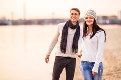 Loving couple on a date Royalty Free Stock Images