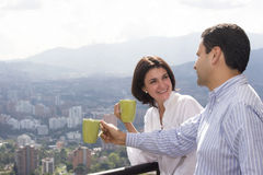 Loving couple drinking cafe Royalty Free Stock Photography