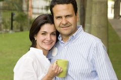 Loving couple drinking cafe Royalty Free Stock Photos