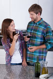 Loving couple drinking wine Royalty Free Stock Photography