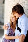 Loving couple embraces Stock Image