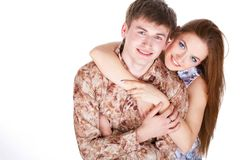 Loving couple embracing Stock Photos