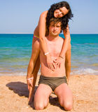 Loving couple embracing Royalty Free Stock Images