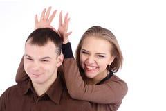 Loving couple embracing Royalty Free Stock Photos