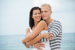 Loving couple enjoy a quiet tender moment Stock Image