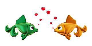 Loving couple of fishes. Stock Photography