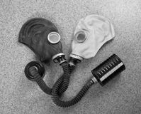 Loving couple of gas masks Royalty Free Stock Photos