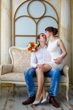 Loving couple the groom and the bride Royalty Free Stock Photo