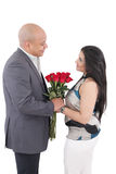 Loving couple happy together.  Valentines day concept. Stock Images