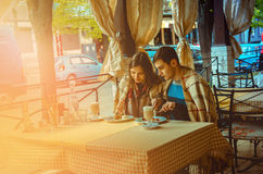 Loving couple having dinner in a restaurant Royalty Free Stock Photos