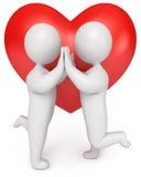 Loving Couple Holding Hands Stock Image