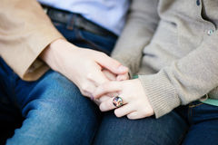 Loving couple holding hands Stock Photography