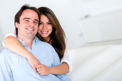 Loving couple at home Royalty Free Stock Images