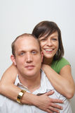 Loving couple at home Stock Images