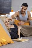 Loving couple at home Stock Photo