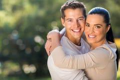 Loving couple hugging Stock Photos
