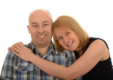 Loving couple hugging and smiling Royalty Free Stock Photos