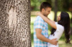 Loving couple hugging. Royalty Free Stock Image