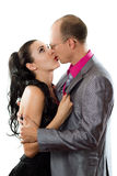 Loving couple - husband and wife kissing Royalty Free Stock Photo