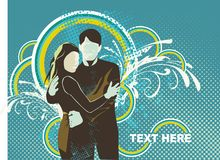 Loving couple illustratyion on vector illustration