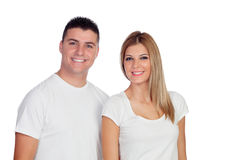 Loving couple isolated Stock Photography