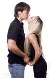 Loving couple kissing Royalty Free Stock Photography