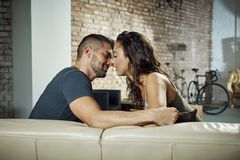 Loving couple kissing Royalty Free Stock Photo