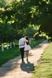 Loving couple kissing each other slightly royalty free stock images
