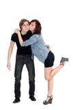 Loving couple kissing Royalty Free Stock Image