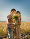 Loving couple kissing Stock Photography