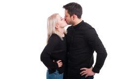 Loving couple kissing passionately Royalty Free Stock Photos