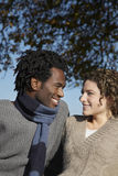 Loving Couple Looking At Each Other At Park Royalty Free Stock Image