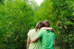 Loving couple in nature royalty free stock image