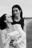 Loving couple near the sea Stock Image
