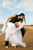 Loving couple near the sea Royalty Free Stock Images