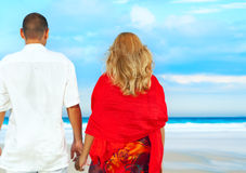 Loving couple near the sea Royalty Free Stock Photography