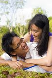 Loving couple in the outdoor Stock Photo