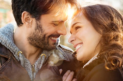 Loving couple outdoor Royalty Free Stock Photography