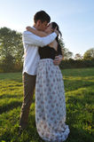 Loving couple outdoor portrait Royalty Free Stock Photos