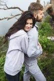 Loving couple outdoor Stock Photos