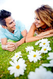 Loving couple outdoors Stock Photography