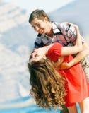 Loving couple outdoors Royalty Free Stock Photos