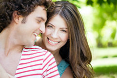 Loving Couple In Park Royalty Free Stock Photos