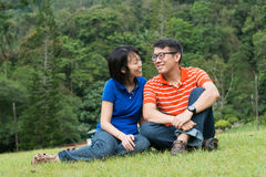 Loving couple in the park Stock Photography