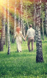 Loving couple in the park Royalty Free Stock Photos