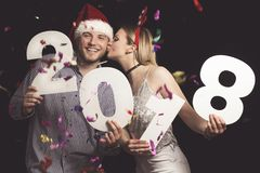 Loving couple at a party Stock Image