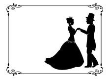 Loving couple in period costumes Stock Photo