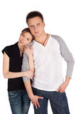 Loving Couple Posing Together Royalty Free Stock Images