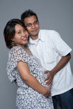 Loving couple proud to be expecting their first ba Stock Photo