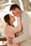 Loving couple on romantic photo Royalty Free Stock Photography